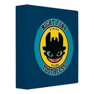 "Night Fury Toothless ""Strike Class"" Emblem 3 Ring Binder"