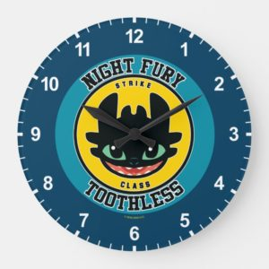 "Night Fury Toothless ""Strike Class"" Emblem Large Clock"