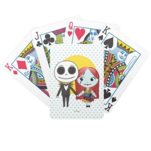 Nightmare Before Christmas | Jack & Sally Emoji Bicycle Playing Cards