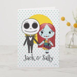Nightmare Before Christmas | Jack & Sally Emoji Holiday Card
