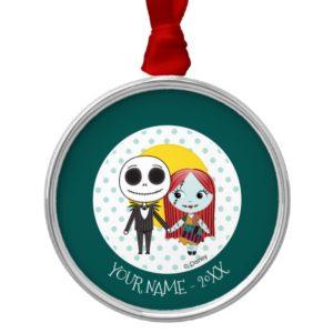 Nightmare Before Christmas | Jack & Sally Emoji Metal Ornament