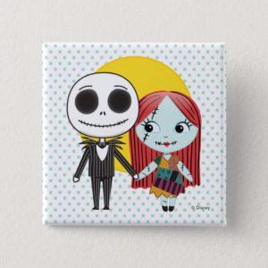 Nightmare Before Christmas | Jack & Sally Emoji Pinback Button