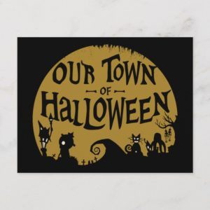 Nightmare Before Christmas | Our Town Of Halloween Holiday Postcard
