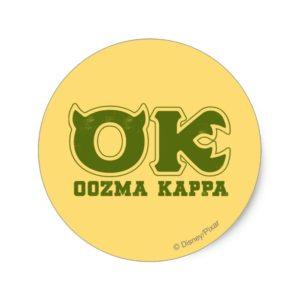 OK - OOZMA KAPPA Logo Classic Round Sticker