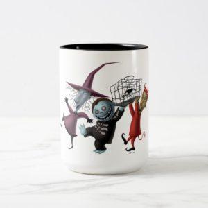 Oogie's Boys | Lock, Shock & Barrel with Cage Two-Tone Coffee Mug