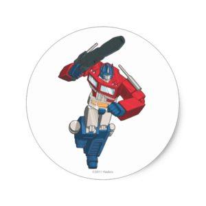 Optimus 4 classic round sticker