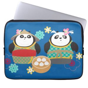 Pandas with Dumplings Laptop Sleeve