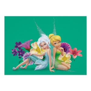 Periwinkle & Tinker Bell Sitting Poster