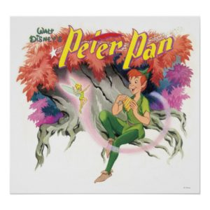 Peter Pan and Tinkerbell Poster