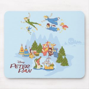 Peter Pan Flying over Neverland Mouse Pad