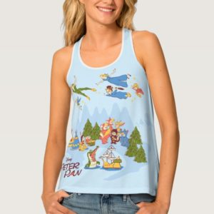 Peter Pan Flying over Neverland Tank Top