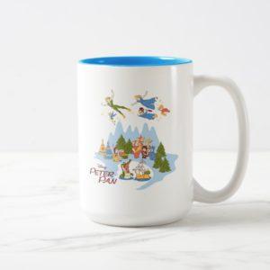 Peter Pan Flying over Neverland Two-Tone Coffee Mug