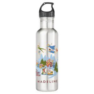 Peter Pan Flying over Neverland Water Bottle