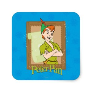 Peter Pan - Frame Square Sticker