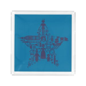 Peter Pan & Friends Star Acrylic Tray