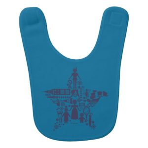 Peter Pan & Friends Star Baby Bib