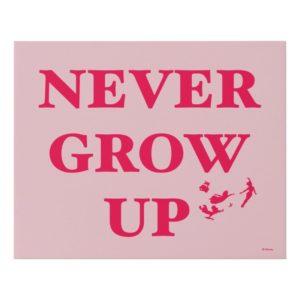 Peter Pan | Never Grow Up Faux Canvas Print