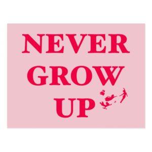 Peter Pan   Never Grow Up Postcard