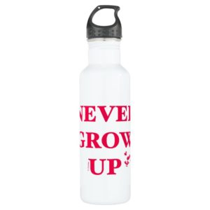 Peter Pan   Never Grow Up Stainless Steel Water Bottle