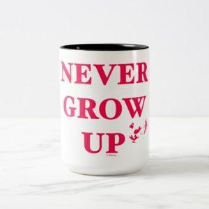 Peter Pan   Never Grow Up Two-Tone Coffee Mug