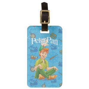 Peter Pan Sitting Down Bag Tag