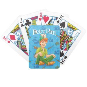 Peter Pan Sitting Down Bicycle Playing Cards