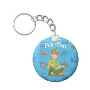 Peter Pan Sitting Down Keychain