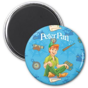 Peter Pan Sitting Down Magnet