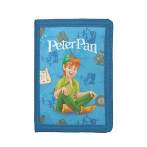 Peter Pan Sitting Down Tri-fold Wallet