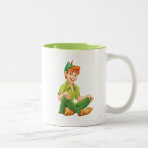 Peter Pan Sitting Down Two-Tone Coffee Mug