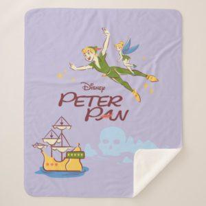 Peter Pan & Tinkerbell Sherpa Blanket