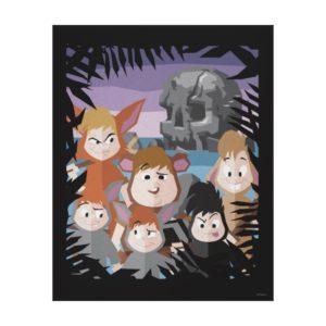 Peter Pan's Lost Boys At Skull Rock Canvas Print