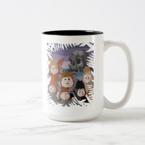 Peter Pan's Lost Boys At Skull Rock Two-Tone Coffee Mug