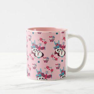 Pink Po and Mei Mei Pattern Two-Tone Coffee Mug