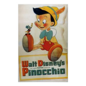 Pinocchio and Jiminy Cricket Poster