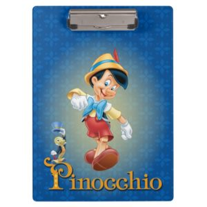 Pinocchio with Jiminy Cricket 2 Clipboard