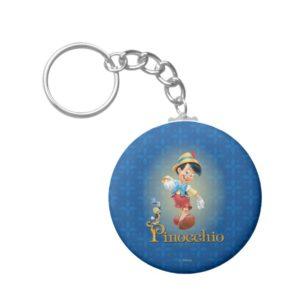 Pinocchio with Jiminy Cricket 2 Keychain