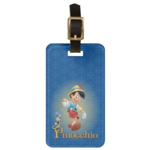 Pinocchio with Jiminy Cricket 2 Luggage Tag
