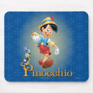 Pinocchio with Jiminy Cricket 2 Mouse Pad