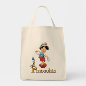 Pinocchio with Jiminy Cricket 2 Tote Bag