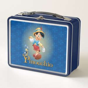 Pinocchio with Jiminy Cricket Metal Lunch Box