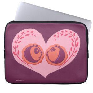 Po and Mei Mei in Heart Laptop Sleeve