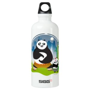 Po Ping and Bao Pose Water Bottle