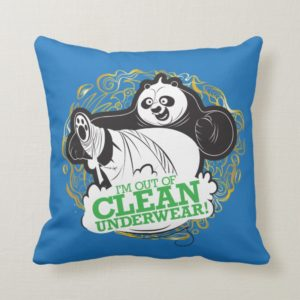 Po Ping - I'm Clean out of Underwear Throw Pillow