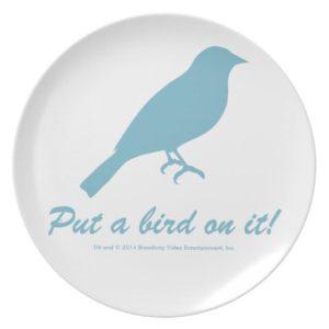 Put a bird on it! Melamine Plate