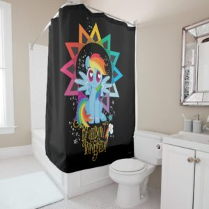 Rainbow Dash | Rainbow Powered Shower Curtain