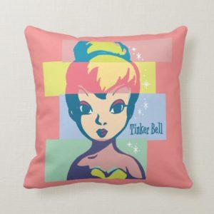 Retro Tinker Bell 2 Throw Pillow