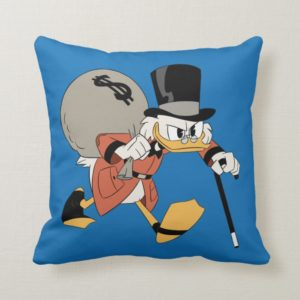 Scrooge McDuck   Find Your Fortune Throw Pillow