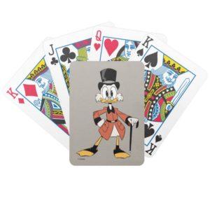 Scrooge McDuck   Work Hard Quack Hard Bicycle Playing Cards