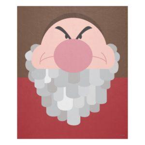 Seven Dwarfs - Grumpy Character Body Fleece Blanket